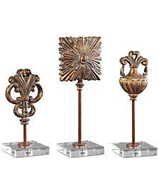 Uttermost Cesare Gold Accessories, Set of 3