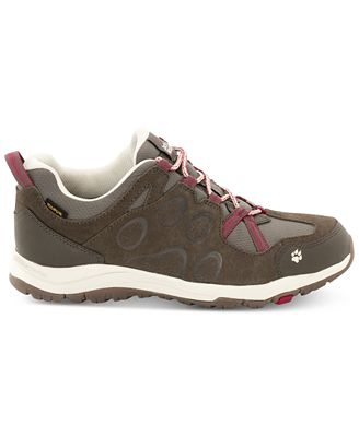 Jack Wolfskin Women's Rocksand Texapore Low Waterproof Hiking Shoes, Dark Ruby from Eastern Mountain Sports