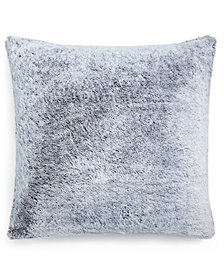 """Martha Stewart Collection Frosted Faux-Fur 20"""" Square Decorative Pillow, Created for Macy's"""