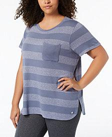 Calvin Klein Performance Plus Size Striped T-Shirt