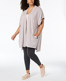 Calvin Klein Performance Plus Size Open-Front Cardigan