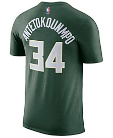 Giannis Antetokounmpo Milwaukee Bucks Icon Name and Number T-Shirt, Big Boys (8-20)
