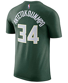 Nike Giannis Antetokounmpo Milwaukee Bucks Icon Name and Number T-Shirt, Big Boys (8-20)