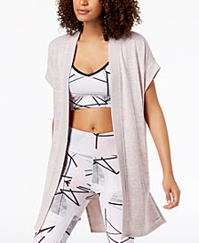 Calvin Klein Performance Seamed Open-Front Cardigan