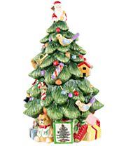 "Spode 12"" Christmas Tree Cookie Jar"