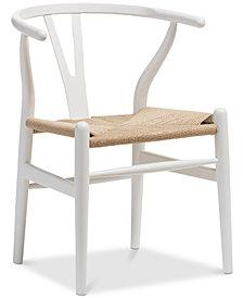 Caden Wishbone Chair (Set of 2), Quick Ship