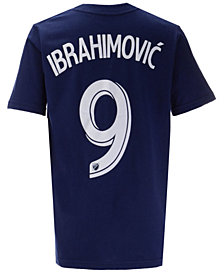 adidas Zlatan Ibrahimovic LA Galaxy Name and Number T-Shirt, Big Boys (8-20)