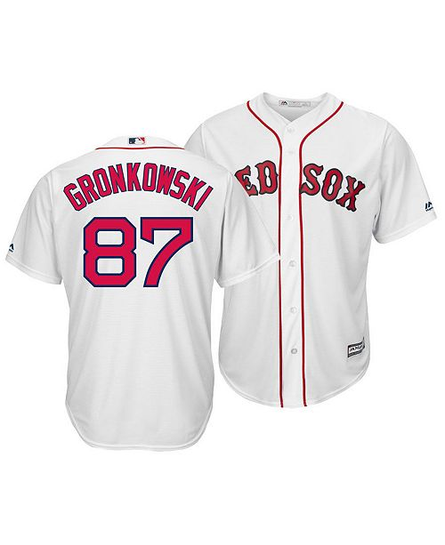 newest ad97e a0c67 Majestic Men's Rob Gronkowski Boston Red Sox NFLPA Replica ...