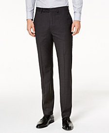 Calvin Klein Men's Slim-Fit Stretch Mini-Grid Dress Pants