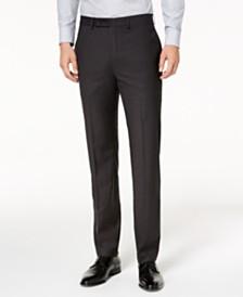 Calvin Klein Men's Slim-Fit Stretch Plaid Dress Pants
