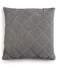 "Whim By Martha Stewart Collection Quilted Velvet 26"" Square Decorative Pillow, Created for Macy's"