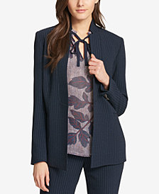 Tommy Hilfiger Pinstriped Open-Front Jacket