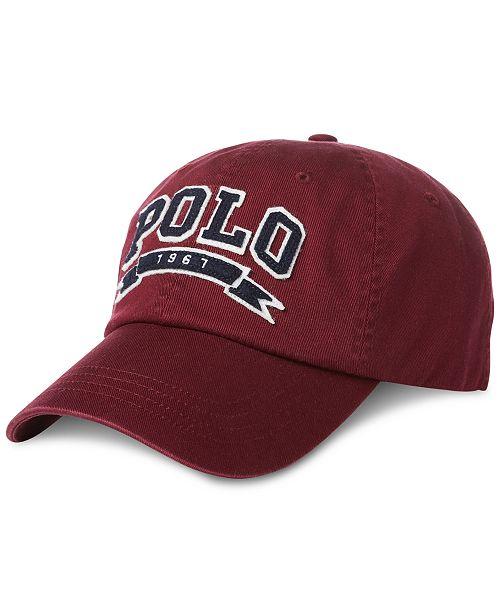 Polo Ralph Lauren Men s Cotton Twill Baseball Cap - Hats 4d0b7787285