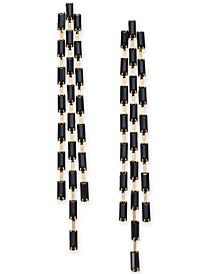 Gold-Tone Stone Triple-Row Linear Drop Earrings, Created for Macy's