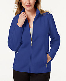 Karen Scott Zeroproof Fleece Jacket, Created for Macy's