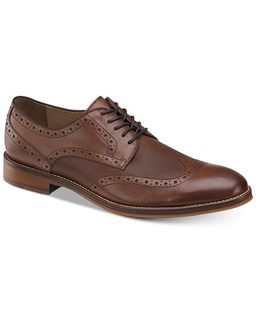Johnston & Murphy Men's Conard Embossed Wingtip Bluchers