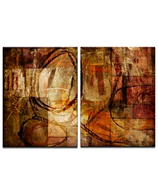 'Earth Tone Abstract III' 2-Pc. Oversized Canvas Art Print Set