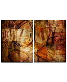 Ready2HangArt 'Earth Tone Abstract III' 2-Pc. Oversized Canvas Art Print Set