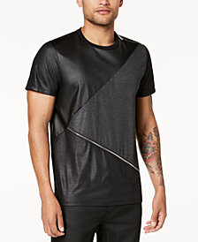 GUESS Men's Mason Zip-Detail T-Shirt