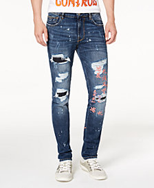 GUESS Men's Skinny-Fit Destructed Jeans