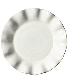 by Laura Johnson Signature Ruffle Round White  Salad Plate