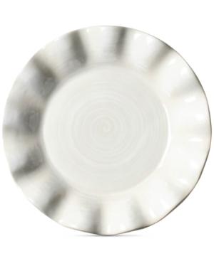 Coton Colors Signature Ruffle Round White Salad Plate