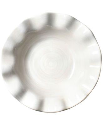 Signature White Collection Ruffle Flare White Small Bowl