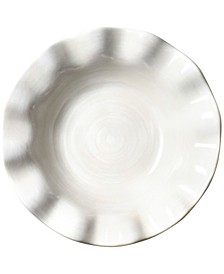 Signature White Collection Ruffle Flare White Small Bowl
