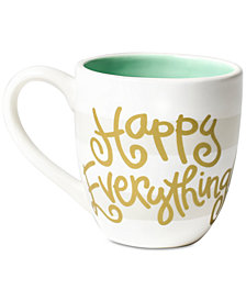 Coton Colors White Stripe Happy Everything Mug