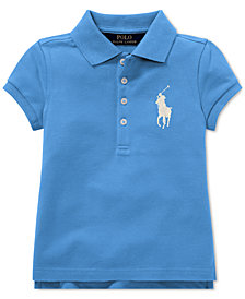 Polo Ralph Lauren Toddler Girls Big Pony Stretch Mesh Polo Shirt