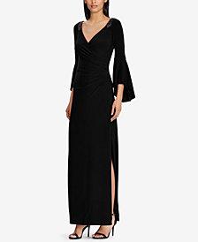 Lauren Ralph Lauren Bell-Sleeve Gown