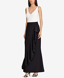Lauren Ralph Lauren Ruffled Two-Tone Gown