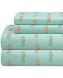 Coastal Embroidered 4-Pc. Twin Sheet Set