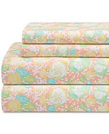 Coastal Print 4-Pc. Full Sheet Set