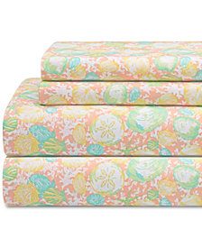 Coastal Print 4-Pc. Queen Sheet Set