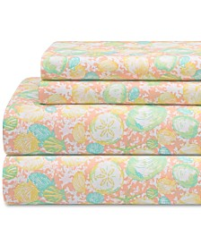 Coastal Print 4-Pc. King Sheet Set