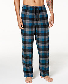 Perry Ellis Men's Buffalo Plaid Flannel Pajama Pants