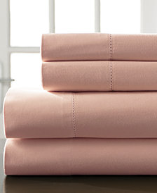 Hemstitch Cotton 400-Thread Count 4-Pc. California King Sheet Set