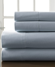 Hemstitch Cotton 400 Thread Count 5-Pc. Split King Sheet Set