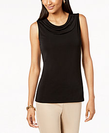 Nine West Drape-Neck Shell
