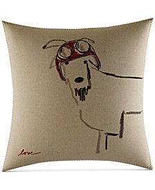 ED Ellen Degeneres Goat with Helmet Square Decorative Pillow