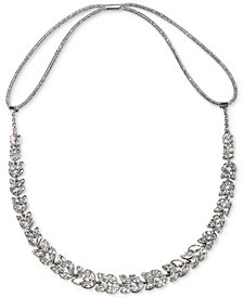 Jewel Badgley Mischka Silver-Tone Crystal Headband