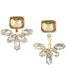 Jewel Badgley Mischka Crystal & Stone Ear Jacket Earrings