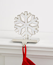 Holiday Lane Snowflake Stocking Holder, Created for Macy's