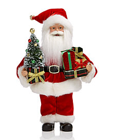 Holiday Lane Standing Santa with Tree & Packages, Created for Macy's