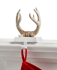 Holiday Lane Antlers Stocking Holder, Created for Macy's