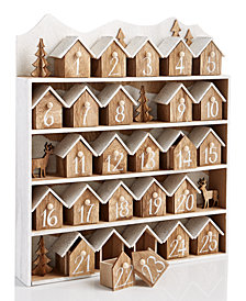 Holiday Lane Wood Houses Advent Calendar, Created for Macy's