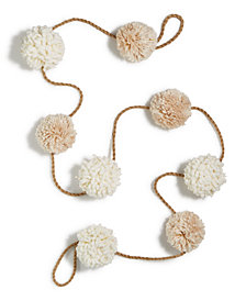 Holiday Lane Pom Pom Garland, Created for Macy's