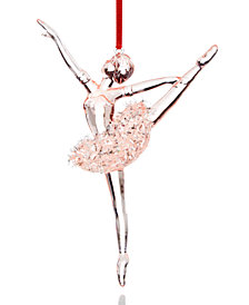 Holiday Lane Pink Plastic Ballerina Ornament, Created for Macy's