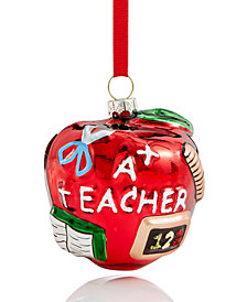 Holiday Lane A+ Teacher Ornament, Created for Macy's
